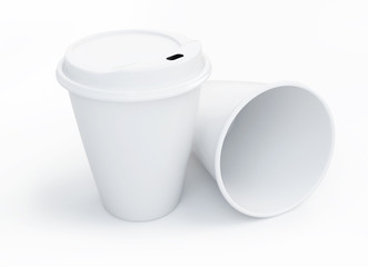 Coffee drinking cup on a white background