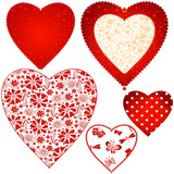 Collection valentine hearts