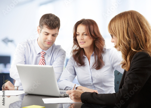 canvas print picture Business people working in group