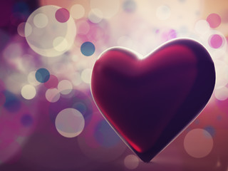 With love in my heart. Abstract valentine backgrounds for your d