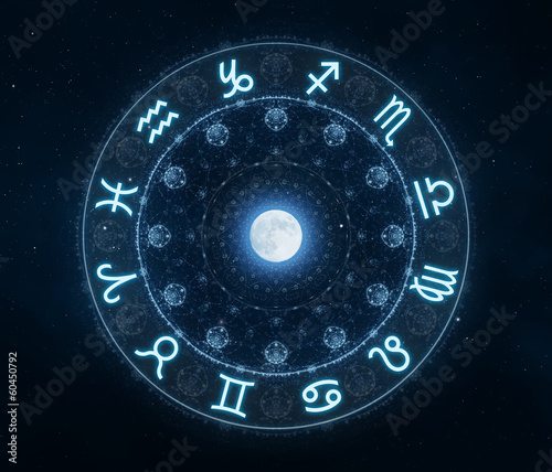 canvas print picture Zodiac Signs Horoscope symbols