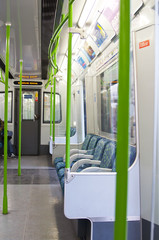 London ,United Kingdom. London underground train interior