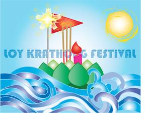 Loy Krathong festival Card