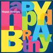 """HAPPY BIRTHDAY"" Letter Collage (card message congratulations)"