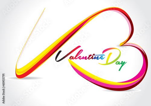 Vector Colorful Love Wave Background