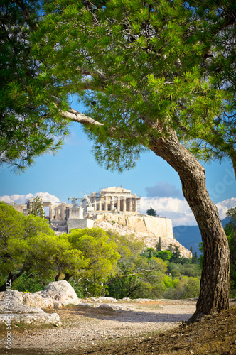 Tuinposter Athene Beautiful view of ancient Acropolis, Athens, Greece