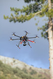 Multicopter flying. poster