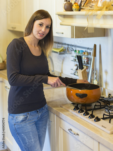 woman cooking kitchen