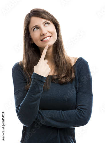 Beautiful woman isolated over a white background