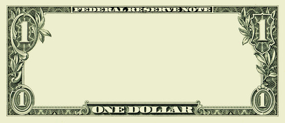 Blank one dollar bill