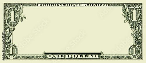 Leinwanddruck Bild Blank one dollar bill