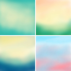 Abstract colorful blurred vector backgrounds set 3