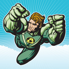 Recycle Hero Flying Forward