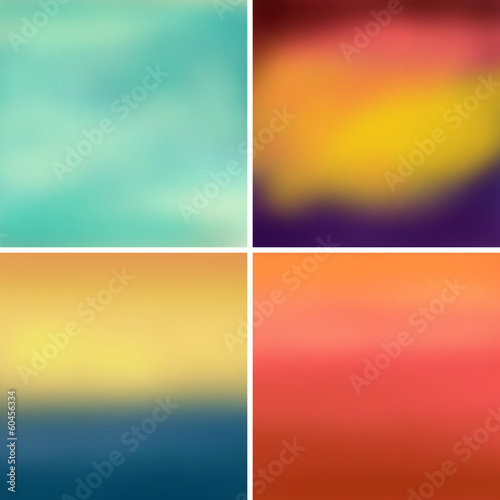 Abstract colorful blurred vector backgrounds set 4