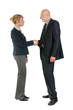 Two business person shaking hands