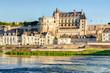 Leinwanddruck Bild - Chateau d'Amboise on the river Loire, France