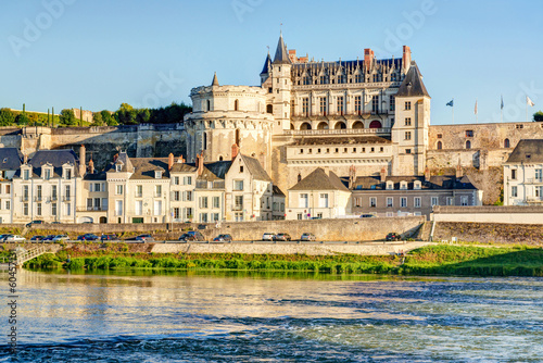 Leinwanddruck Bild Chateau d'Amboise on the river Loire, France