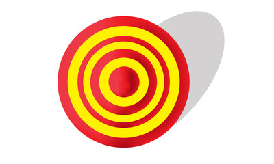 Yellow and Red Target