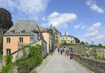Old Part of Luxembourg City, Grand Duchy of Luxembourg. UNESCO