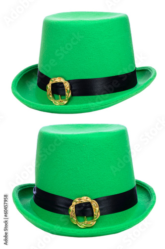 St. Patrick's Day party hat isolated on white