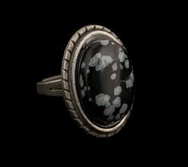 Vintage obsidian ring