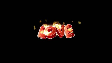 love fire animaion