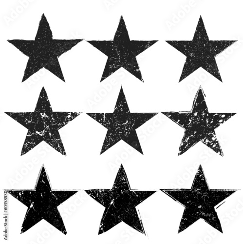 Grunge star background