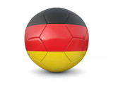 Germany soccer ball 3d render