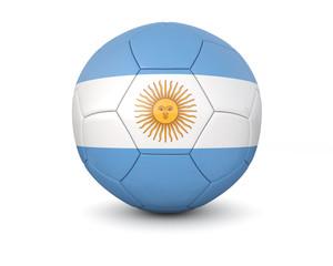 Argentina soccer ball 3d render