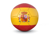 Spain soccer ball 3d render