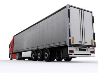 Lastwagen mit Curtainside Auflieger