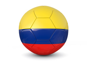 Colombia soccer ball 3d render