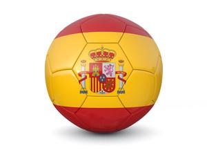 Spain soccer ball 3d render