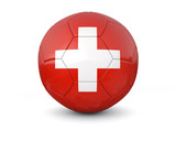 Switzerland soccer ball 3d render