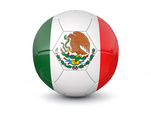 Mexico soccer ball 3d render