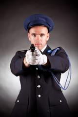 elegant soldier shoot