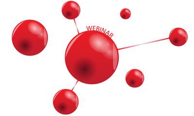 Red Webinar Concept