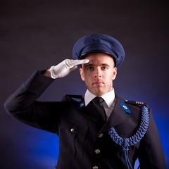 elegant soldier wearing uniform