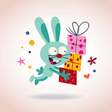 bunny with presents