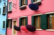 Colored houses in Burano island