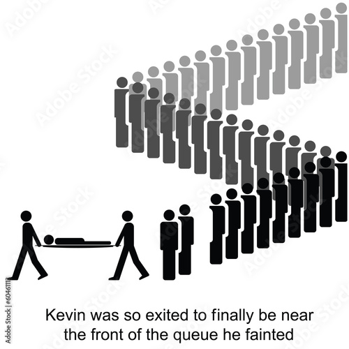 Kevin is taken away be paramedics cartoon