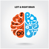 Fototapety Creative left brain and right brain