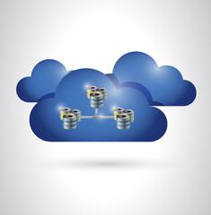 cloud and servers illustration design