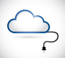 cloud and cable connection. illustration design