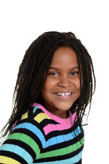 portrait little black girl