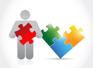 icon and puzzle. illustration design