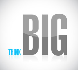 think big text message illustration design
