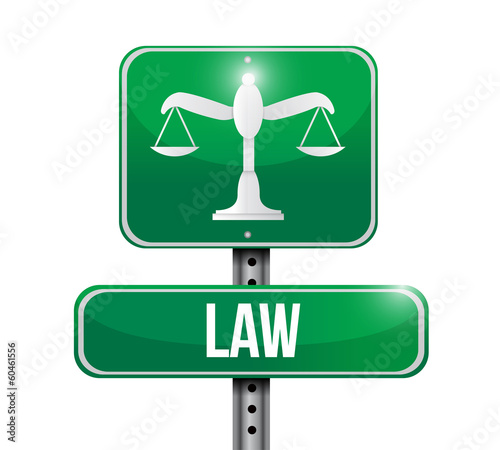 law road sign illustration design