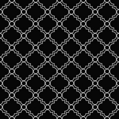 Black and White Decorative Design Textured Fabric Background