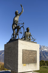 bikers monument at Ghisallo pass, Como